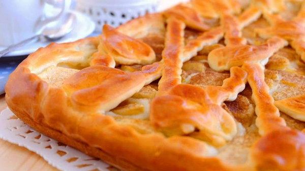 Рецепт дрожжевого яблочного пирога