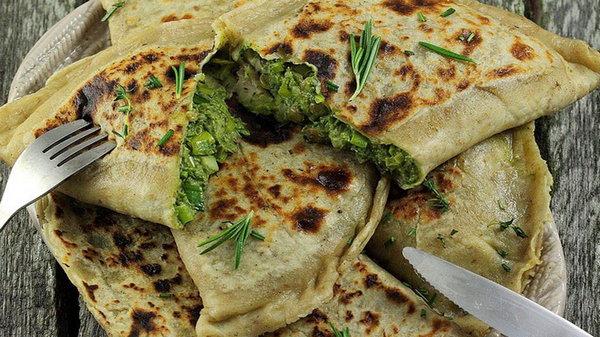 Рецепт кутабов с зеленью