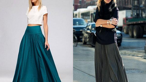 Как самостоятельно сшить длинную юбку