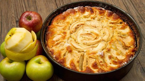 Яблочный пирог из белого батона рецепт приготовления