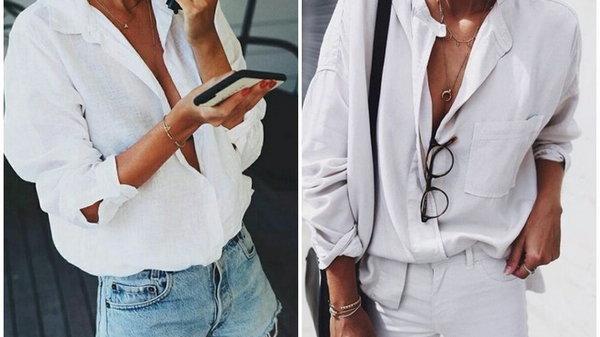 Учимся правильно и стильно носить белую рубашку