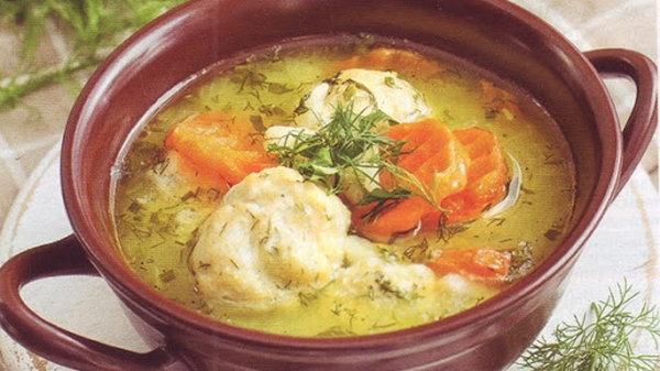 Суп с репой и курицей