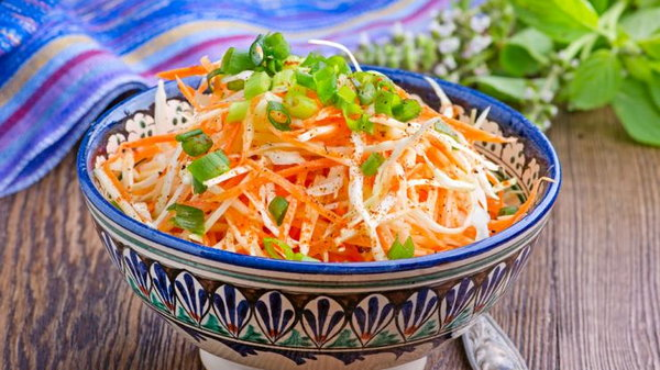 Салат из репы и капусты