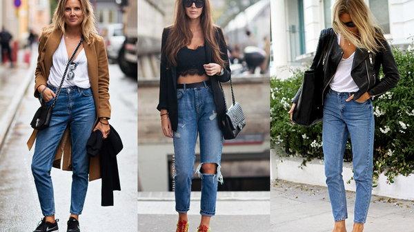 С чем носить mom-джинсы
