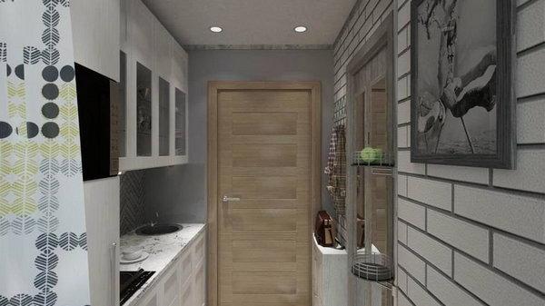 Как обустроить кухню в коридоре