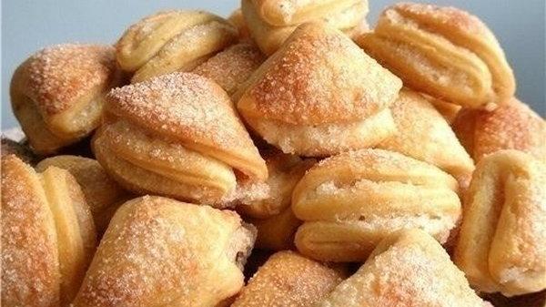 Низкокалорийное творожное печенье — платочки с яблоками