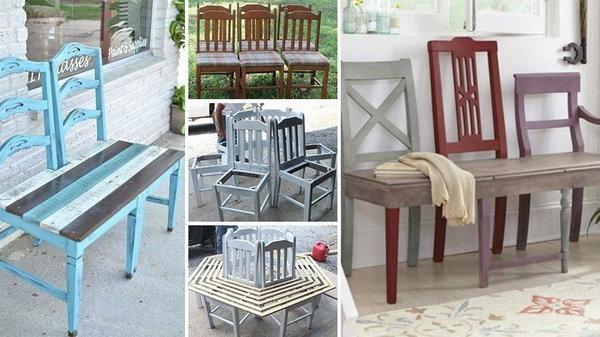 Новая и красивая жизнь старого стула