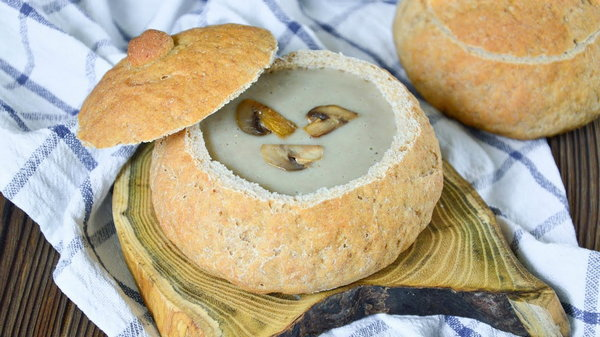 Как приготовить суп в хлебе