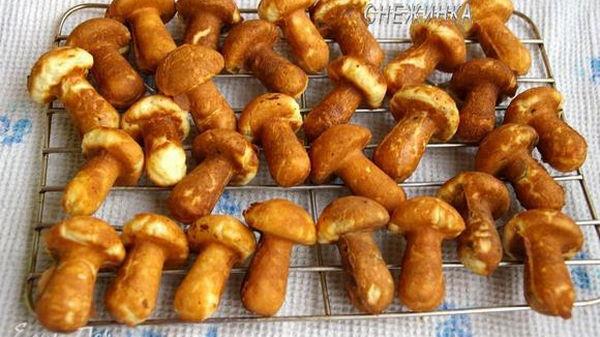 Рецепт печенья грибочки