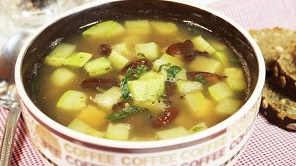 Летний суп из кабачков (рецепт)